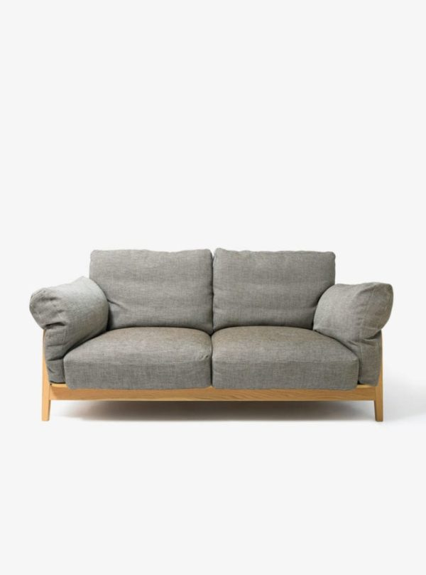 Double Sofas With Wooden Legs